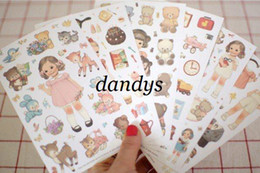 Wholesale Freeshipping New kawaii doll paper sticker note sticker Decoration label set Multifunction
