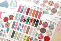 Wholesale Freeshipping New set Vintage Deco paper pvc sticker Decorative fabric print sticker Label Mult