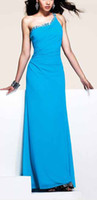 Wholesale 2013 new sexy one shoulder party dress is made out of stretch mesh fabric nail beads evening dresses