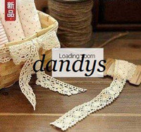 Wholesale Freeshipping New cotton fabric bobbin lace CM Decoration belt DIY ribbon fashion whol
