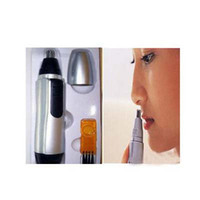 Wholesale electric nose hair remover vibrissa trimmer with brush cleaner