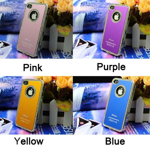 Buy Aluminum Metal Brushed Deluxe Hard Case Fashion Luxury Cover Skin iPhone 4/4S EMS