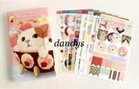 Wholesale Stationery cute Choo cat sticker pack Ver diary Point sticker Set Pink design Sets