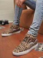 arrival rubber pad - Wholesae New arrival fashion warm cotton padded tide leopard help skateboard casual shoes EU39