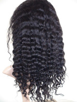 Hand tied Full Lace Wig indian remy hair Curly wave - 12&quo...