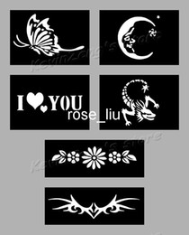 Wholesale Tattoo Stencils for Body art Painting Temporary Glitter Tattoo Kit sheets Choose the Patte