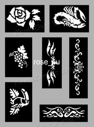 Wholesale Tattoo Stencils for Body art Painting Temporary Glitter Tattoo Kit sheets F