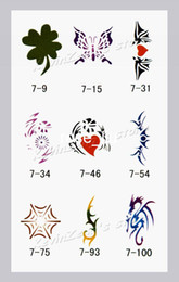 Wholesale Temporary Airbrush Tattoo Stencil book Template Booklet Reuseable designs Reuseable