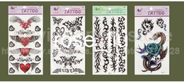 Wholesale 100 Temporary tattoo stickers for Body art Painting mixed designs