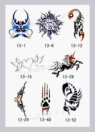Wholesale Temporary Airbrush Tattoo Stencils Glitter Tattoo Template Book13 designs