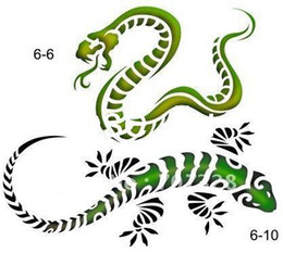 Wholesale Temporary Tattoo Stencils for Airbrush Glitter tattoo Tattoo Template Book Body Art Body