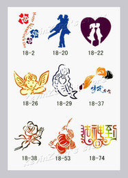 Wholesale Temporary Airbrush Tattoo Stencils book Template Booklet designs Reuseable free shippi