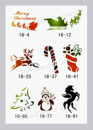 Wholesale Temporary Airbrush tattoo Stencils book Template for Christmas Reuseable