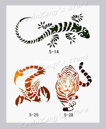 Wholesale Temporary Airbrush Tattoo Stencils book Template Booklet designs Reuseable free shippin