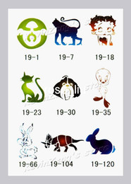 Wholesale Temporary Airbrush Glitter Tattoo Stencils Tattoo Template Book designs Body Painting