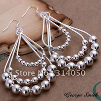Wholesale GSSPE189 silver earrings fashion jewelry wood hoop earrings Nickle free antiallergic H