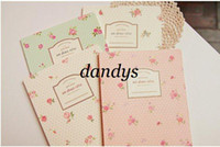 Wholesale Freeshipping NEW sweet vintage rose Notebook Diary fashion Gift notepads