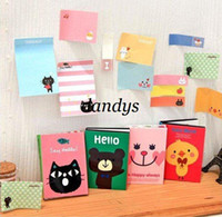 Wholesale New cute cartoon animals Notepad Memo pad Paper sticky note message post Who