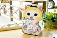 Wholesale New korea style very nice cute cat design dolly table calendar Christmas gift
