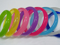 Halloween acryl resin - Luminous Transparent Colorful Acryl Resin Bracelet Hot Sale Bracelet Mix Color
