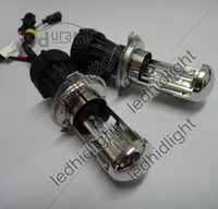 Bulb H4 6000K HID Xenon AC H4 bixenon bi-xenon flexible high low lamps 6K with H4 cable 2pcs pair lot