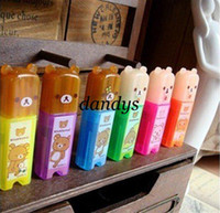Wholesale New cute Cartoon Rilakkuma fluorescent pen Color Highlighter marker