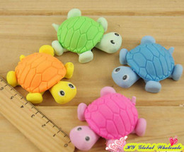 Wholesale Freeshipping New Cute Creative turtle Style Eraser Funny Eraser Office amp Study Rubber Erase Kids Gifts