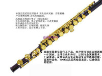 Wholesale Professional sino us joint HSL C the flute hole purple body and gold key
