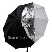 Wholesale 84cm in White Silver Double layer Reflective Soft Umbrella for Flash Speedlite Light