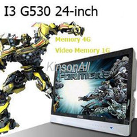 Wholesale all in one pc computer inch DIY all in one TV G Memory G video memory CPU G530 EMS DHL Fedex