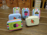 Wholesale New vintage style flower and cake series quality iron case storage case tin box