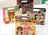 Wholesale New DIY PAPER rilakkuma series Storage Box Stationery Holder Foldable Multi funct