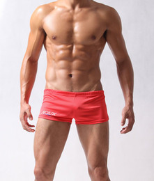 Wholesale AQUX free ship drop ship tight sexy men s GYM pants shorts underwear red color