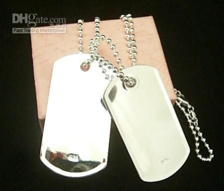 ... 925 silver dog tag men's necklace,men's jewelry,necklace,fashion