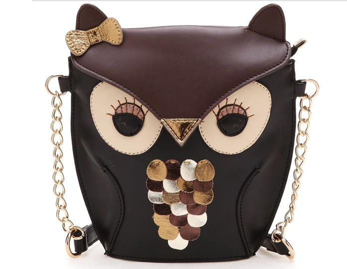 Luxury Women Owl Cartoon PU Leather Bag Cross Body Shoulder Bags ...