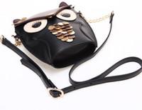 Wholesale Fashion Luxury women owl cartoon PU leather bag Cross body OWL shoulder bags handbag totes purse wallets xmas gift