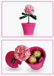 Wholesale Special ROSE Non Woven High Quality Paper Gift Boxes for wedding favor candy jewely flower boxes DIY