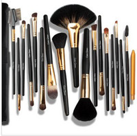 Wholesale 18 set Cosmetic Brush Cerro Qreen natural animal hair makeup brush golden set MB31