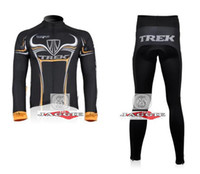 Wholesale Winter clothes TREK team Winter long sleeve cycling jerseys pants bike bicycle thermal fleec