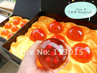 Wholesale Anime figure toy Dragon ball Z star crystal ball set Big Size cm Dragon balls resin boy toys