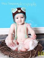 Cheap New Baby hat Cartoon Designs Cotton Handmade Children Crochet Hat Animal baby hat free shipping