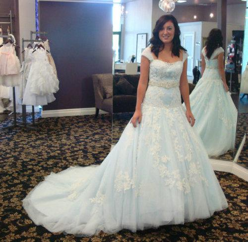 Discount cheap cap sleeve beaded lace applique a line for Adding cap sleeves to a wedding dress