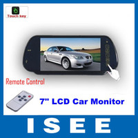 Wholesale ISEE Style quot TFT LCD Color Screen Car Mirror Monitor Reverse Rearview Camera DC V Power Supply fr