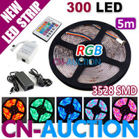 Wholesale BIG SALE M Waterproof RGB SMD LED Strip Light Decoration Lamp IR Remote V A Power Supply CN LS37