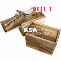 Wholesale Wooden box toy horror toys tricky toy g