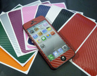Wholesale New Arrival Carbon Fiber Vinyl Full Body Sticker Skin Protector Cover for Apple Iphone G iphone5