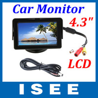 Wholesale 4 quot Color LCD Car Rearview Monitor with LED blacklight for Camera DVD VCR China post