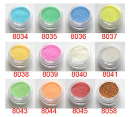Wholesale Nail Beauty Nail Art Glitter Powder Nail Shell Powder Shimmer Glitter tattoo refill set set