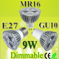 Wholesale W Dimmable MR16 GU5 GU10 E26 E27 E14 Spotlight Spot Light LED Lamp Bulb Lightings