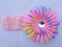 Cheap 6pcs Kids headbands Crochet headband + 6pcs girls Hair flower hair clips baby hair bow clip